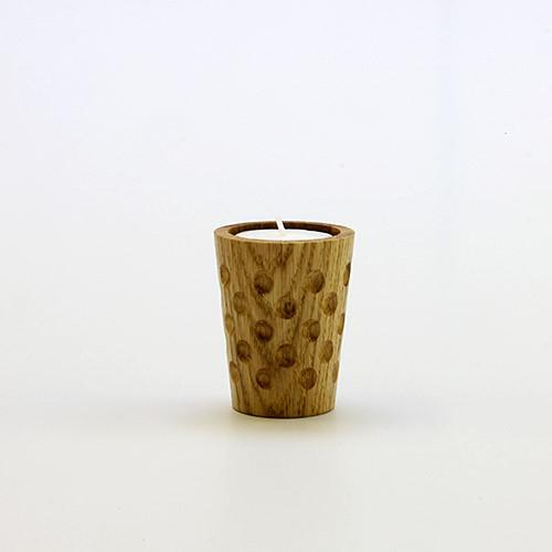 Holzteelicht DUBBE, groß, 0,1 Liter