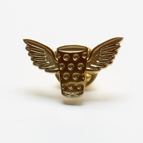 Pin Dubbewings, gold