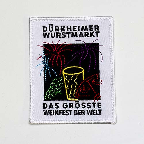 """Abzeichen """"Dürkheimer Wurstmarkt Feuerwerk"""", groß"""