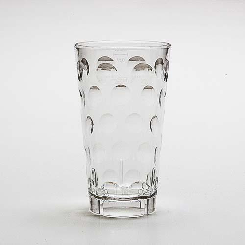 Dubbeglas aus Kunststoff, glasklar, unzerbrechlich, 0,5 Liter