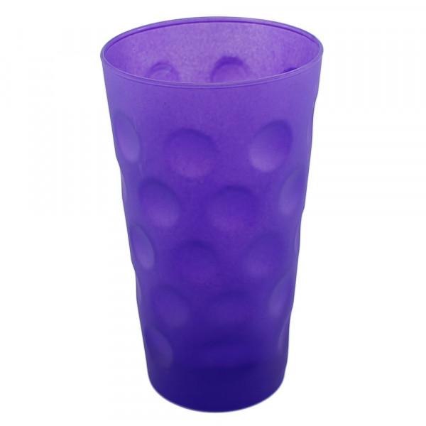 Farbiges Dubbeglas lila, matt, 0,5 Liter