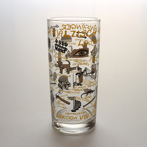 Schoppenglas 'Pfälzisch für Anfänger', hellbraun, 0,5 Liter