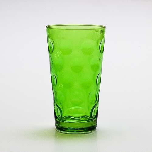Farbiges Dubbeglas grün, ganz gefärbt, 0,5 Liter
