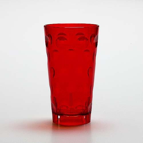 Dubbeglas aus Kunststoff, rot, unzerbrechlich, 0,5 Liter